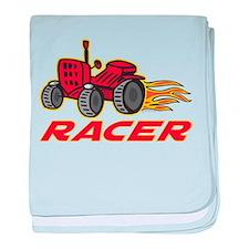 Tractor Racing baby blanket
