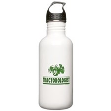 Green Tractor Water Bottle