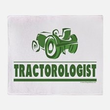 Green Tractor Throw Blanket