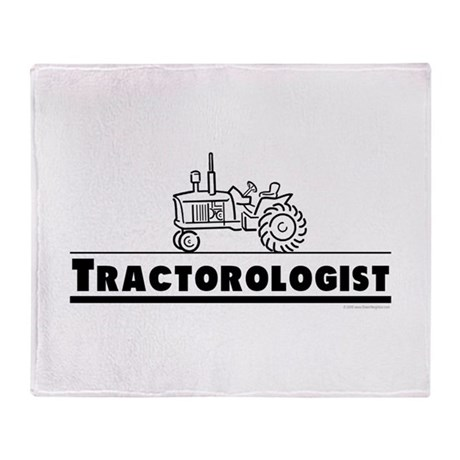 Funny Tractor Throw Blanket