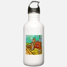 Van Gogh Tractor Sports Water Bottle