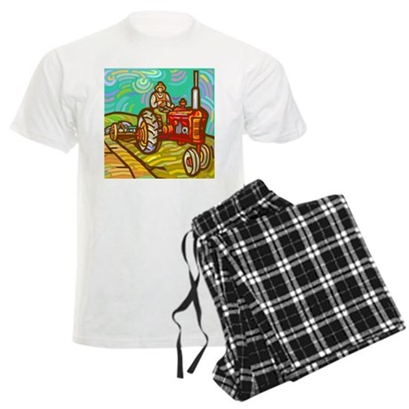 Van Gogh Tractor Men's Light Pajamas