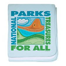 National Parks baby blanket
