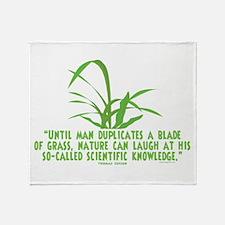 Edison Nature Quote Throw Blanket