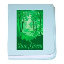 Live Green baby blanket