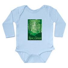 Live Green Long Sleeve Infant Bodysuit
