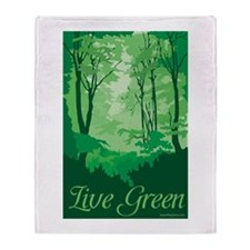 Live Green Throw Blanket
