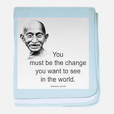 Gandhi - Be the Change baby blanket
