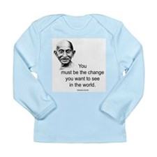 Gandhi - Be the Change Long Sleeve Infant T-Shirt