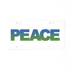 Simply Peace Aluminum License Plate