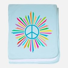 Peace Symbol Star baby blanket
