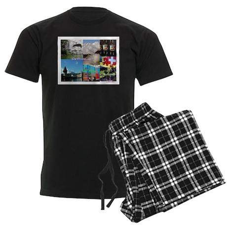 Lucerne, Switzerland Men's Dark Pajamas