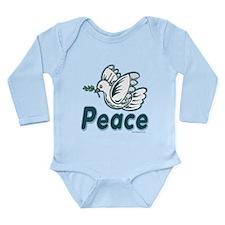 Dove of Peace Long Sleeve Infant Bodysuit