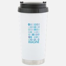 Imagine Peace Signs Stainless Steel Travel Mug