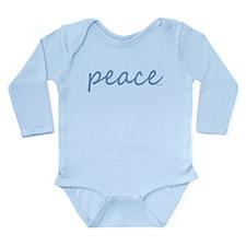 Simple Peace Long Sleeve Infant Bodysuit