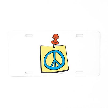 Remember Peace Aluminum License Plate