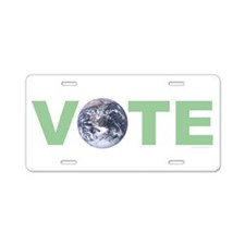 Vote Green Aluminum License Plate