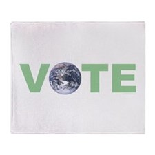 Vote Green Throw Blanket