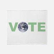 Vote Green Throw Blanket