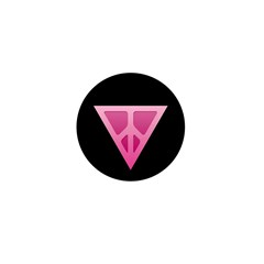 Q-Peace Triangle Black Mini Button (100 pack)