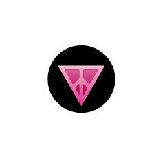 Q-Peace Triangle Black Mini Button (10 pack)