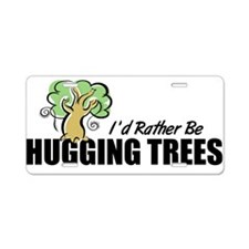 Hugging Trees Aluminum License Plate
