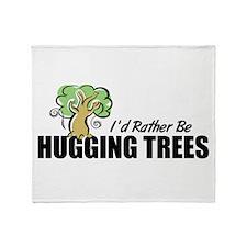 Hugging Trees Throw Blanket
