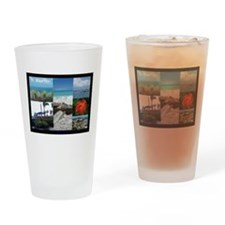 St. Maarten Collage by Khonce Drinking Glass