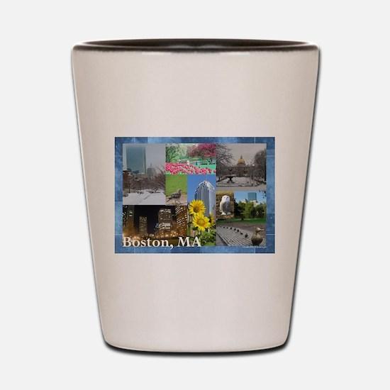 Boston, MA Photo Collage Shot Glass