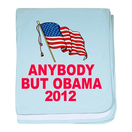 Anti Obama 2012 baby blanket