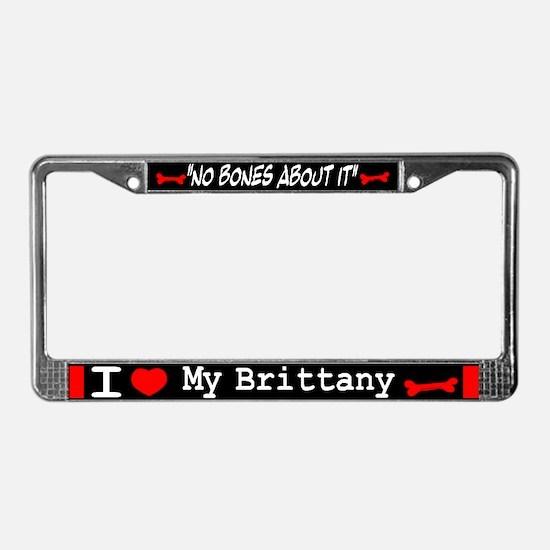 NB_Brittany Spaniel License Plate Frame