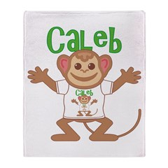 Little Monkey Caleb Throw Blanket