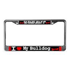 Bulldog Gifts License Plate Frame