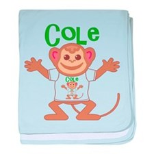 Little Monkey Cole baby blanket