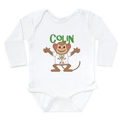 Little Monkey Colin Long Sleeve Infant Bodysuit