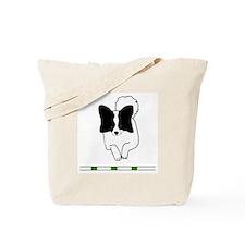 Black Papillon Tote Bag