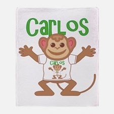 Little Monkey Carlos Throw Blanket