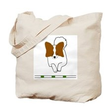 Red Papillon Tote Bag