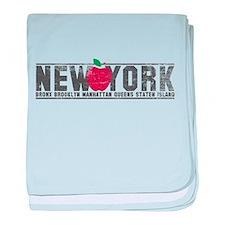 Big Apple NY baby blanket