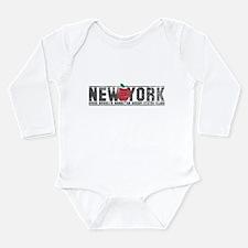 Big Apple NY Long Sleeve Infant Bodysuit