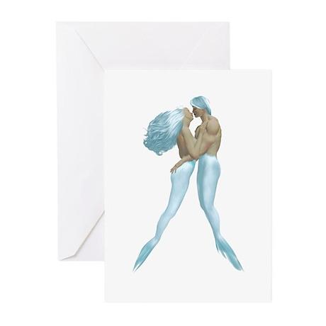 Merman & Mermaid Greeting Cards (Pk of 10)