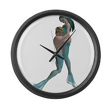 Merman & Mermaid Large Wall Clock