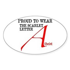 Scarlet Letter Atheist Stickers