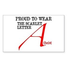 Scarlet Letter Atheist Decal