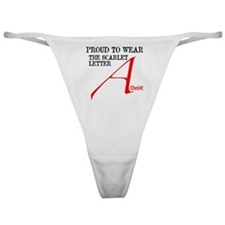 Scarlet Letter Atheist Classic Thong