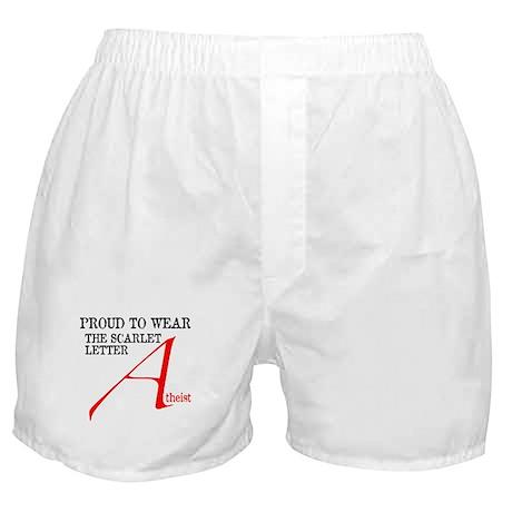 Scarlet Letter Atheist Boxer Shorts