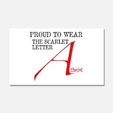 Scarlet Letter Atheist Car Magnet 20 x 12