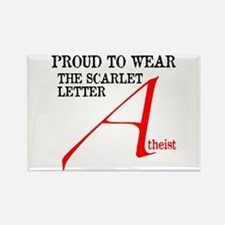 Scarlet Letter Atheist Rectangle Magnet (100 pack)