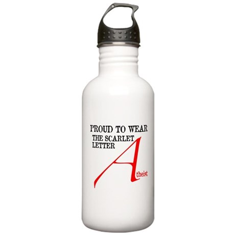 Scarlet Letter Atheist Stainless Water Bottle 1.0L