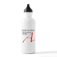 Scarlet Letter Atheist Water Bottle